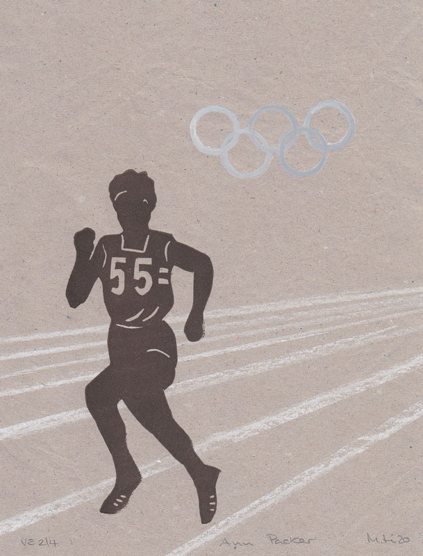 Silhouette figure of an Olympic runner